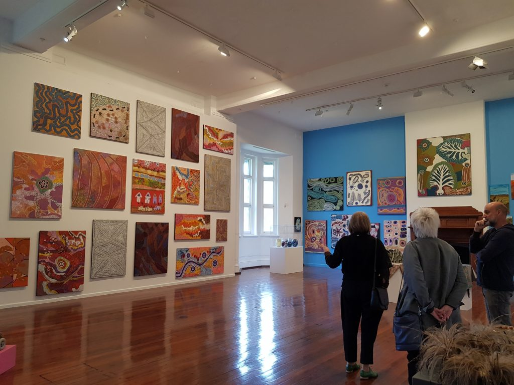 Gallery space at Fremantle Arts Centre during REVEALED exhibition