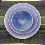 Davida Palmer, 2021, 30x30cm, Porcelain. & Sharon Smith, 2021, 40x34cm, Woven Wool. Photo by Deborah James