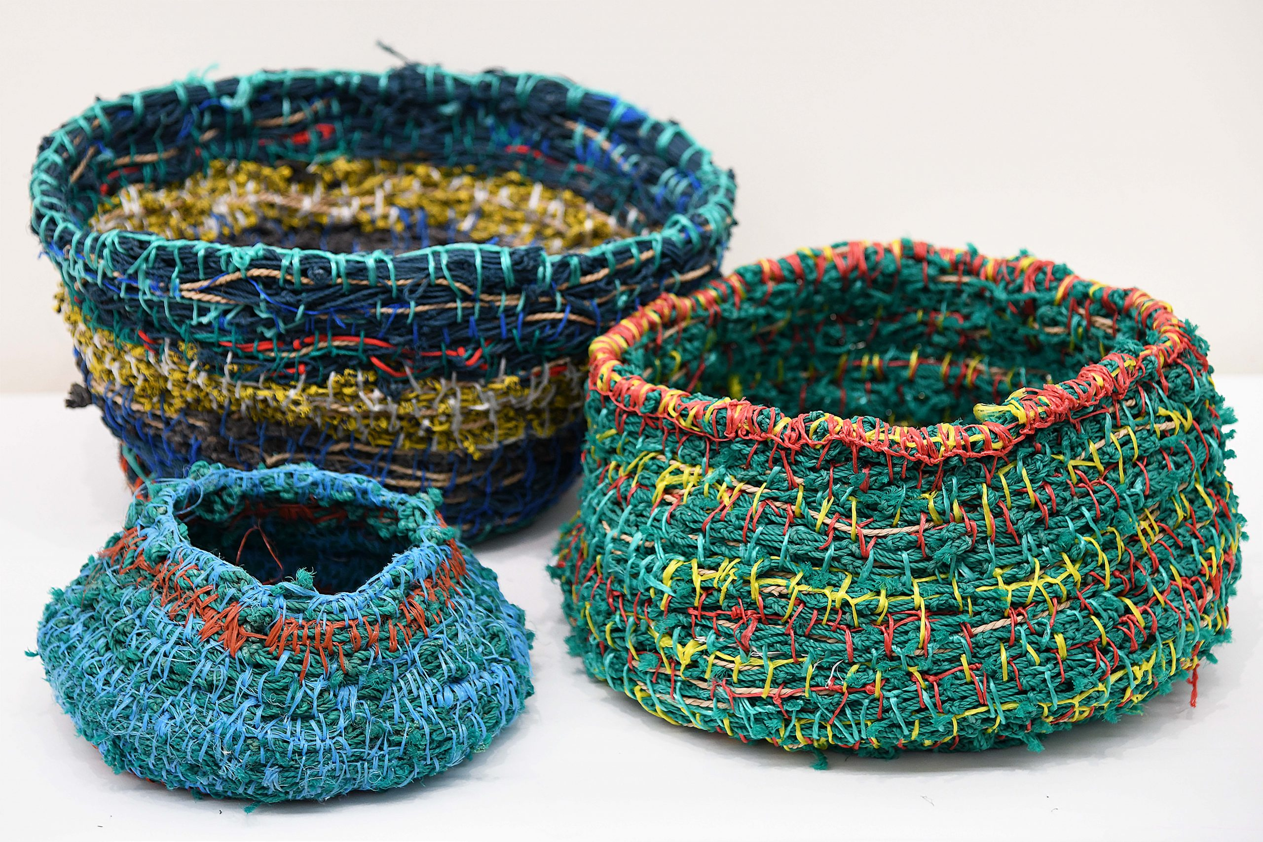 Ghost Net Baskets by Maria Ware