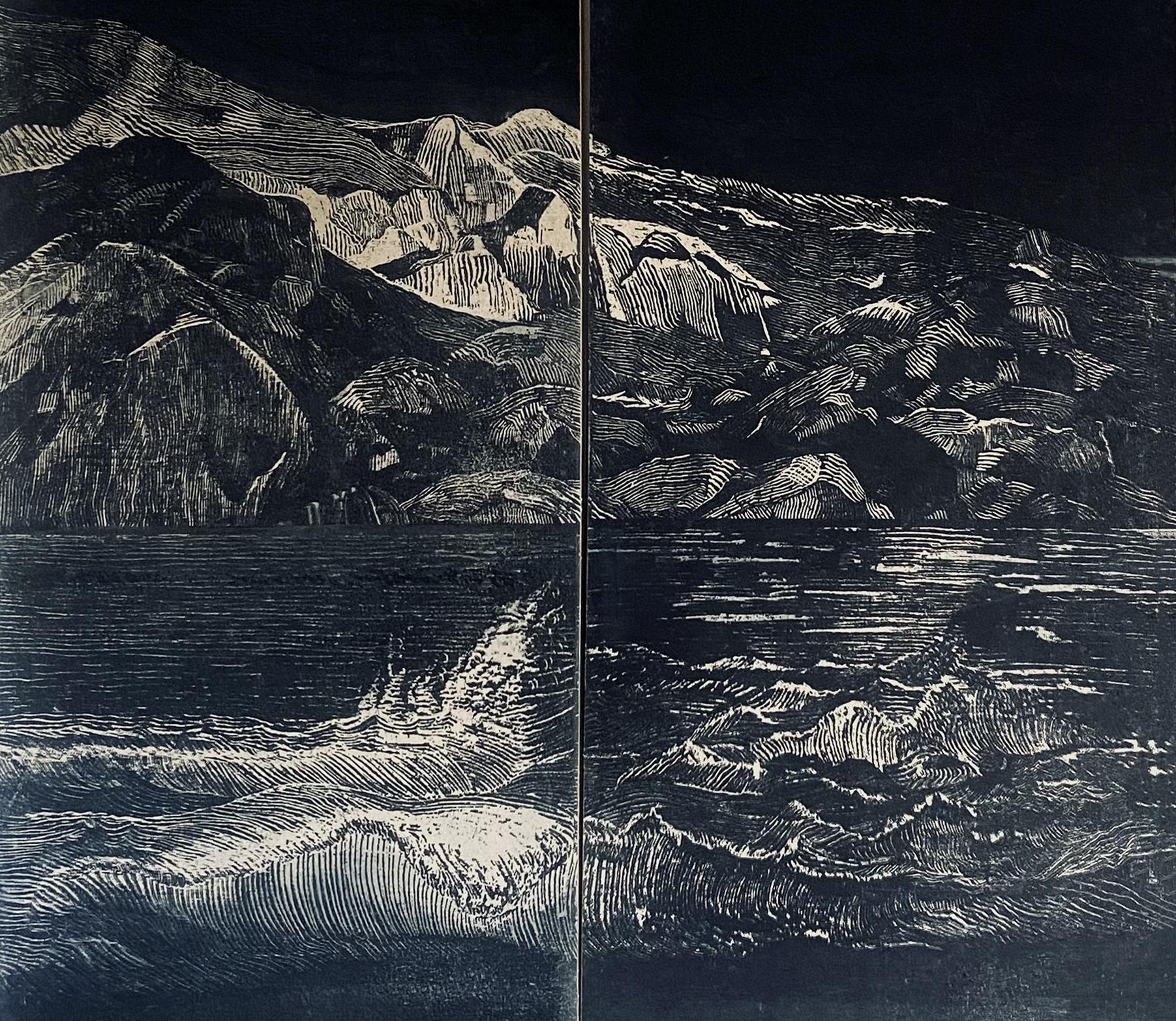 Kelsey Ashe, Indigo (Detail), Screenprint with indigo ink