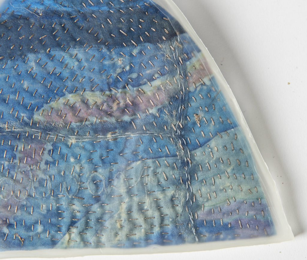 Marianne Penberthy, Mountain Memories 2013, Textile, Perspex, Mixed media, Geraldton Regional Art Gallery Collection
