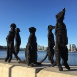 Mikaela Castledine, Meerkats, Perth Zoo Commission, South Perth Foreshore, 2019, Steel armature, nylon rope, Variable Dimensions, Photo by Mikaela Castledine