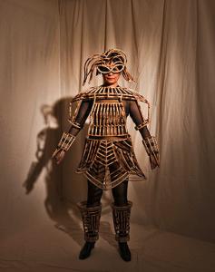 woman in bamboo armour