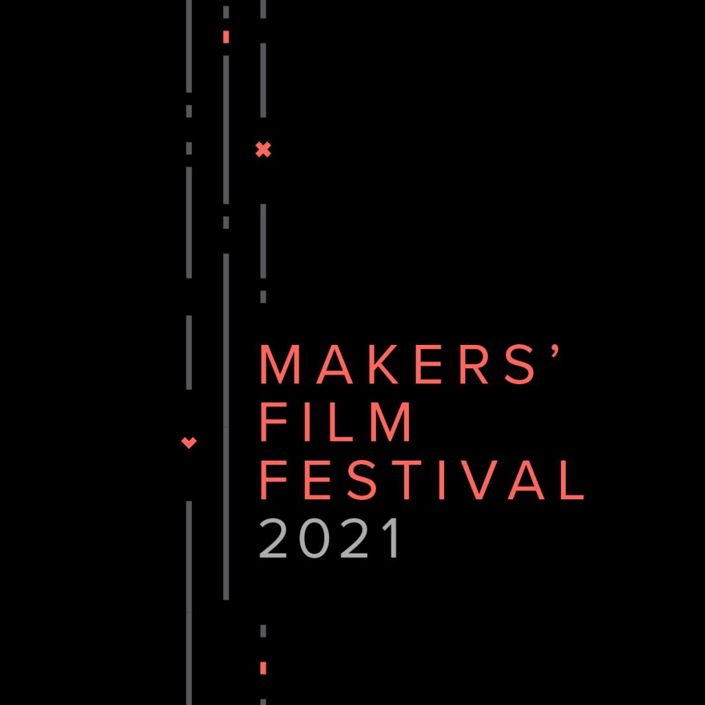 Makes Film festival logo, red on black background