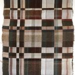 Textile weaving creating a checkered pattern