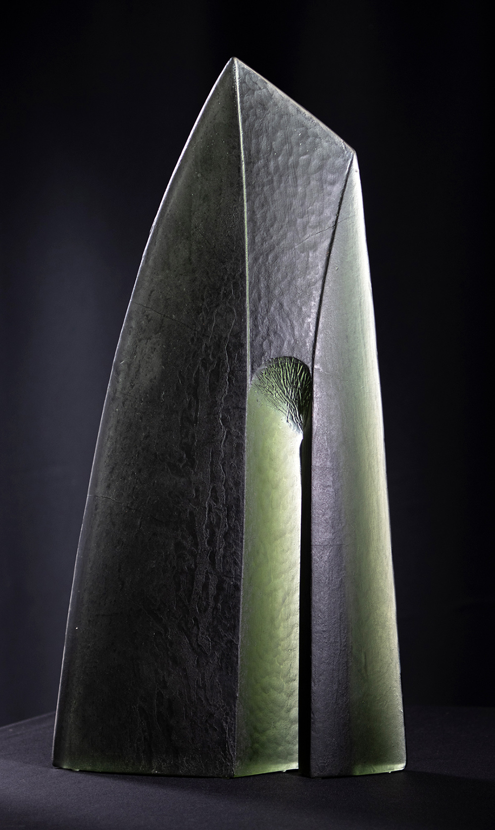 Peter Kovacsy, Cosmic Millennium Gathering, 1999, Karri Timber, 54 x 14cm, Photographed by Peter Kovacsy